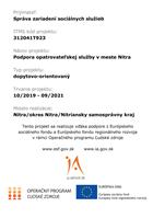Podpora opatrovateľskej služby v meste Nitra
